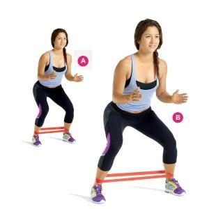 Set-of-2-blue-latex-resistance-workout-excercise-pilates-yoga-bands-loop-wrist-ankle-elastic-belt